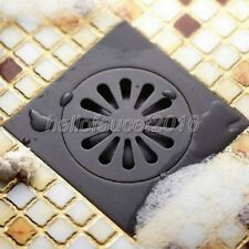 Oil Rubbed Bronze Tile Insert Square Bathroom Shower Grate Waste Drain lhr009
