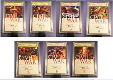MARVEL CIVIL WAR Complete 9.8 Set #1 -7 SIGNED SEQUENTIAL NUMBERED SET not cgc