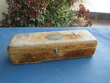 Ancienne boite à bijoux couture en bois et tissu napoleon 3  french antique box