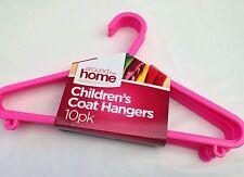 30 x pink CHILDREN KIDS BABY DELUXE PLASTIC CLOTHES COAT HANGERS HANGER