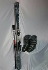 TWIN TIP SKI PKG, Primal 155cm & Poles, Used Salomon Bdg, Dalbello Boots+FITTING