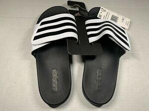 Adidas Adilette Comfort ADJ Adjustable Men Women Unisex Slides Black 10 Men
