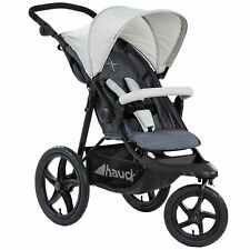 hauck Runner Air 3 Wheeler Pushchair Jogger Buggy Silver Grey RC Upto 4 Yrs