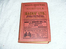 Kelly's      Directory      Of     Norfolk     1929      870    Pages