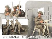 █ 1/35 Resin British Truck Crew 4 Soldiers Unassembled Unpainted 1759