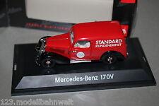 Schuco 77183 MB 170V Kasten Standard Kundendienst 1:43 Vitrine OVP