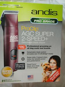 ANDIS AGC2 SUPER DUTY 22360 PRO CLIP 2 SPEED DETACHABLE BLADE CLIPPER BRAND NEW