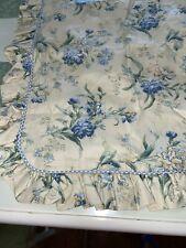 Laura Ashley Pillow Sham Tan Blue Green Floral Gingham Ruffle Standard 1 Sham