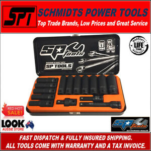 "SP TOOLS SP20320 1/2"" DRIVE DEEP METRIC IMPACT SOCKET SET 15 PCE WITH UNI-JOINT"