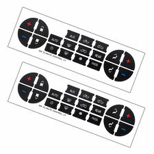 New 2PCs  AC Button Repair Kit Decal Stickers Dash Replacement For 07-14 GM