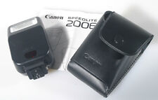 CANON SPEED LIGHT 200 E WITH CASE AND MANUAL