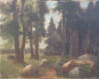 ::ANDRE BORNE *1868 ÖLGEMÄLDE WALD LICHTUNG  SIGNIERT ROMANTIKER FRANKREICH HIQ