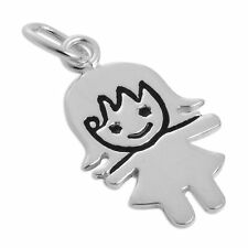 925 Sterling Silver Little Girl Charm Sister Daughter Niece Granddaughter Charms