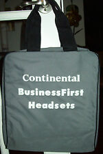 CONTINENTAL AIRLINES BUSINESS FIRST HEADSET BAG