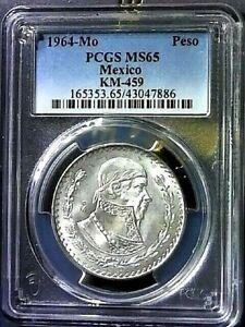 1964-Mo PCGS MS65 MEXIC0 PESO KM-459 SILVER COMPOSITION COIN