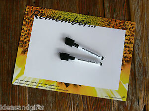 A4 Sunflower Eleanor Roosevelt Fridge Whiteboard Messages Magnet Reminder +2pens