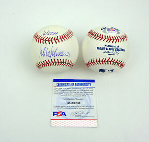 "Mike Mussina NY Yankees Signed Autograph MLB Baseball ""Moose"" Inscri PSA/DNA COA"