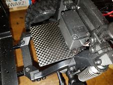 Elektronik Carbon Platte vor dem Lenkservo für Traxxas TRX-4 CNC gefertigt
