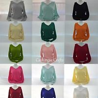 Ladies 100% Cashmere Jumper  Sweater 100% Pashmina Girl's Womens Jumper V Neck