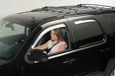 Chrome Trim Window Visors - Fits Toyota Highlander 2001-2006 (Front Only)