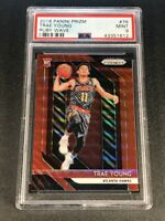TRAE YOUNG 2018 PANINI PRIZM #78 RUBY WAVE REFRACTOR ROOKIE RC PSA 9