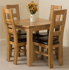 Small Square Oak Dining Table and 4 Yale Chairs Oslo