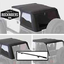 97-06 Jeep Wrangler TJ Bowless  Frameless Soft Top with Windshield Channel Kit