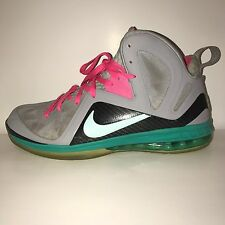 Nike LeBron 9 P.S. Elite South Beach 516958-001 PS Mango Miami Pink Teal Size 15