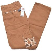 Ecko Unltd Mens Camel Brown Camo Pocket Slim Fit Casual Twill Cargo Pants