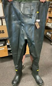 👀NEW RANGER MEN'S ALL-RUBBER INSULATED CHEST WADERS SIZE 10 GREEN A2071-GRN-100