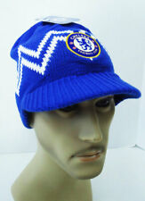 Chelsea FC Visor BEANIE Soccer Cap Sports Hat Blue New