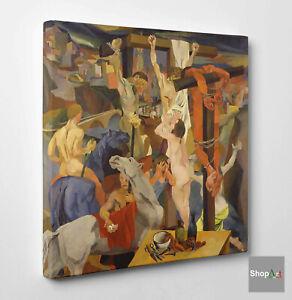 Renato Guttuso La Crocifissione Stampa su tela Canvas effetto Quadro Fine Art