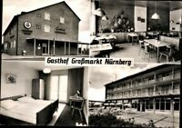 Alte AK PK Postkarte gelaufen ´68 Foto SW Mehrbild Gasthof Großmarkt Nürnberg