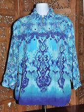 Women's Zenergy by Chicos Shadesof Blue Zip Front Jacket - Size 2