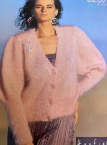 "Ladies Mohair Cardigan Knitting Pattern Size 28""-42"" - L157"