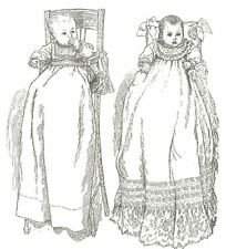 """12 to 14"""" baby doll  Christening gown dress reborn sewing pattern"""