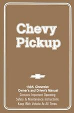 1985 Chevrolet Truck Owners Manual Guide Reference Operator Book Fuse Fluids OEM