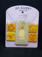 So Sweet Magnets Set of 5 Most Sincerely by Claire Stoner Free U.S. Shipping