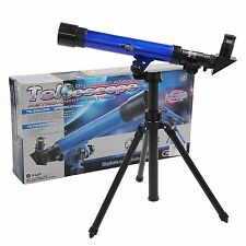 Powerful Astronomical Telescope Stargazing Educational Kids Toy Tripod Blue