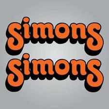 Simons Forks Decal Set - Orange - Vintage Motocross MX AHRMA Sticker