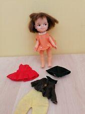 Vintage Little Perfekta doll brunette + 3 outfits 1960s