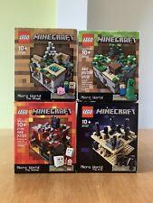LEGO Minecraft Micro World 21102, 21105, 21106, 21107 New
