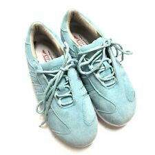 MBT Womens Wave Light Blue Suede Physiological Shoes 8.5