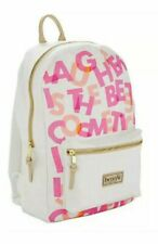 Benefit 2019 Branded Travel Backpack Canvas White/Pink
