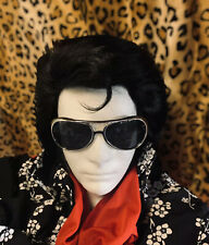 ELVIS WIG & SIDEBURNS - ETA TRIBUTE HAIR - 70's KING