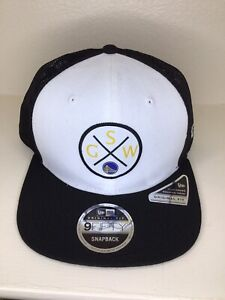 Golden State Warriors Original Fit Trucker Snapback 9Fifty NBA Hat Black White