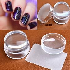 Transparent Nail Art DIY Stamping Stamper Scraper Plate Transfer Manicure kang