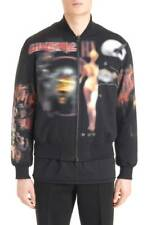 GIVENCHY JACKET BLACK Padded Runway Bomber Coat Medium NEW
