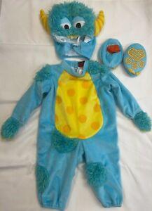 Lil Monster Costume Baby Toddler Full Halloween Costume Size Small 6-18 mon