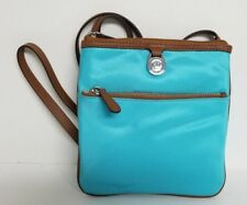 Michael Kors Kempton Large or Small Aquamarine Teal Crossbody Handbag Purse NWT